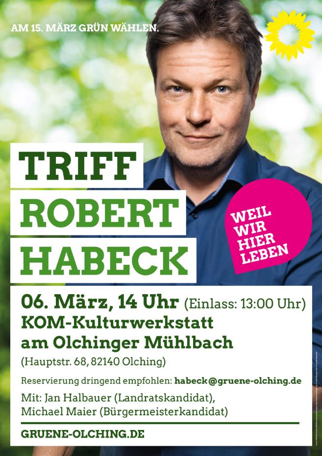 Robert Habeck kommt nach Olching