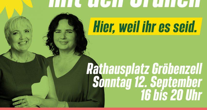 Wahlkamphöhepunkt mit Claudia Roth in Gröbenzell